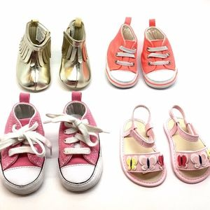 Infant Baby Girl Size 1 Shoe Lot Converse Gymboree